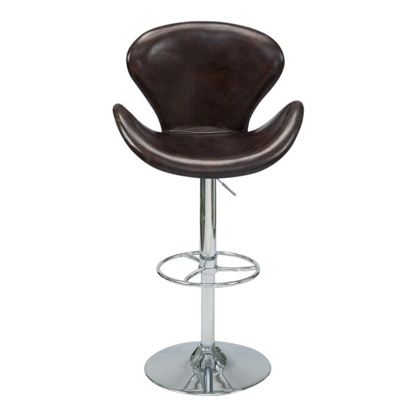 Laymon Adjustable Height Swivel Bar Stool by Brayden Studio
