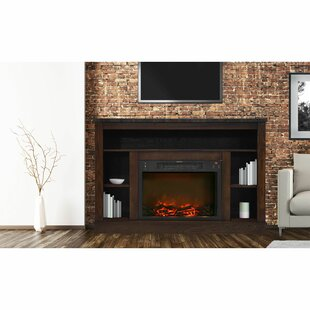 Ducharme TV Stand for TVs up to 50 with Fireplace Included by Red Barrel Studio