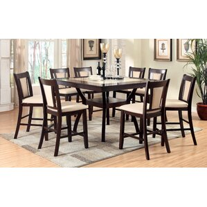 Pitcairn 9 Piece Counter Height Pub Table Set by Darby Home Co Reviews