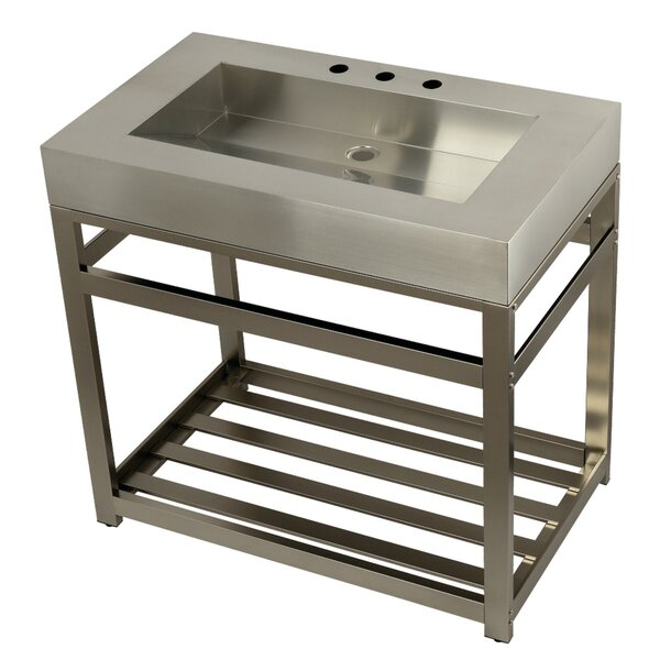 Fauceture Metal 37 Console Bathroom Sink by Kingston Brass
