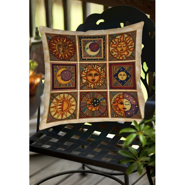 Celestial Squares Indoor/Outdoor Throw Pillow by Manual Woodworkers & Weavers