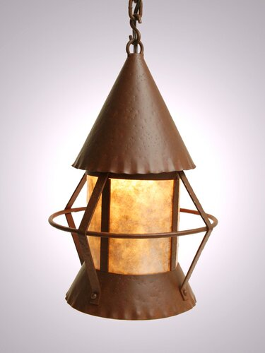Gig Harbor 1-Light Lantern Geometric Pendant by Steel Partners