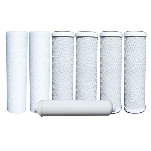 7 Piece Reverse-Osmosis Replacement Filter Set by Watts Premier