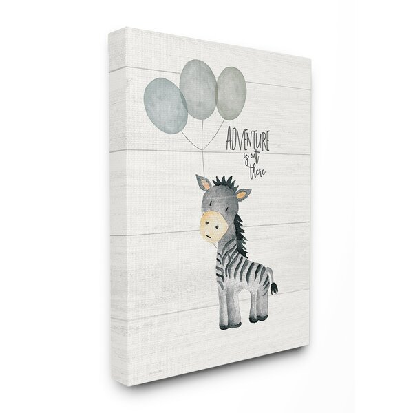 Feeley Adventure is out there Zebra Canvas Art by Harriet Bee