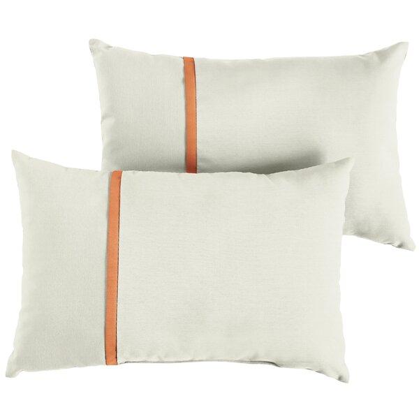 Folger Indoor/Outdoor Sunbrella Lumbar Pillow (Set of 2) by Charlton Home