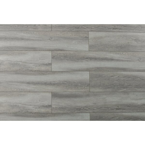 Abdiel Rama 7.72 x 47.83 x 12.3mm Laminate Flooring in Gray Silver by Serradon
