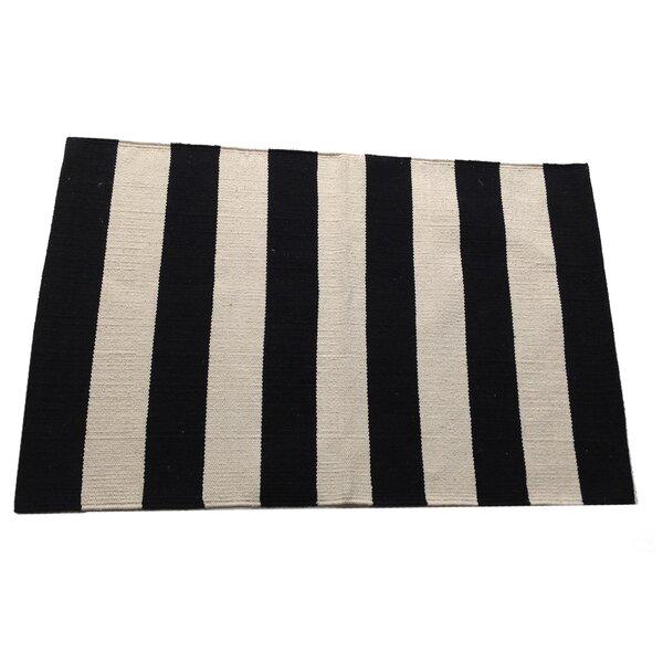Widestripe Black/Beige Area Rug by Artim Home Textile