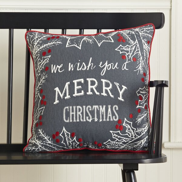 Merry Christmas Greetings Pillow Cover by Birch Lane™