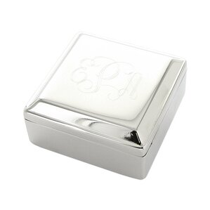 Personalized Square Jewelry Box by Heartstrings