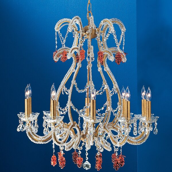 Aurora 10 - Light Candle Style Empire Chandelier By Classic Lighting