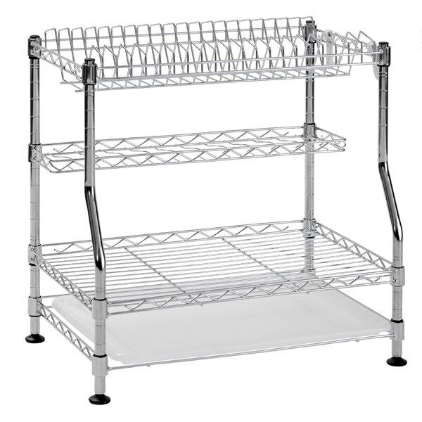 3-Tier Wire Dish Rack by Sandusky Cabinets
