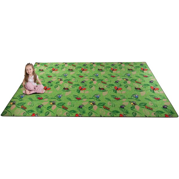 Buzzy Bugs Green Area Rug by Kid Carpet