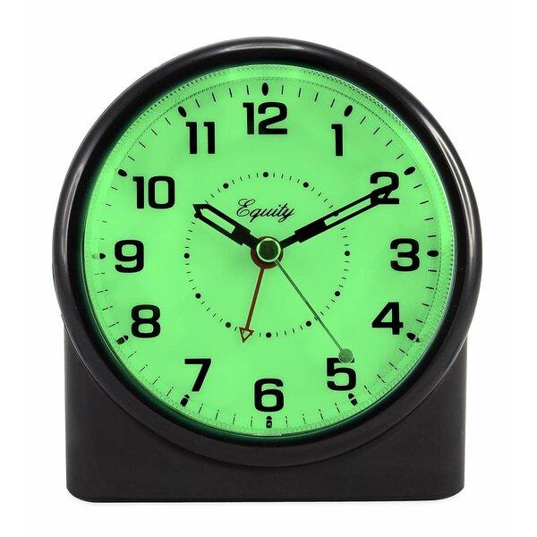 Backlit Analog Alarm Tabletop Clock by Wind & Weather
