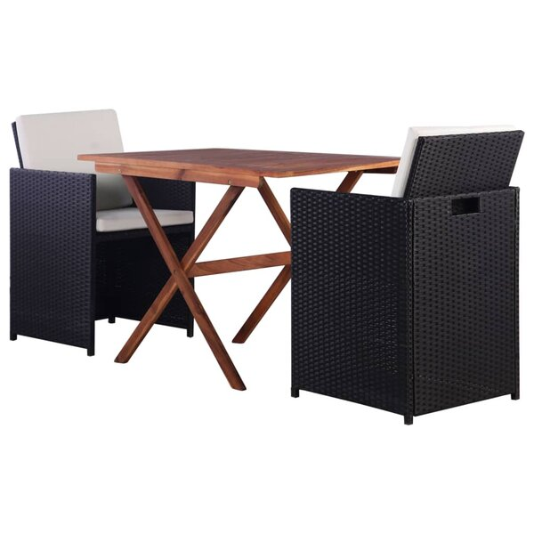 Ellerton 3 Piece Dining Set with Cushions