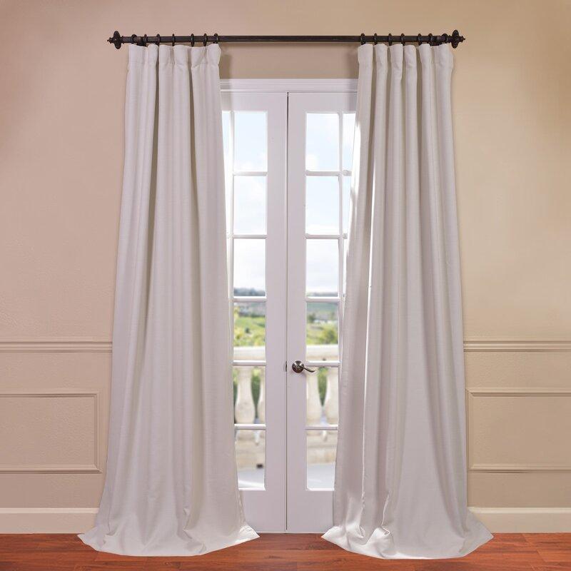 Three Posts Freemansburg Solid Blackout Thermal Rod Pocket Single Curtain Panel Reviews Wayfair