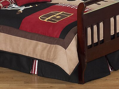 Pirate Treasure Cove Toddler Bed Skirt by Sweet Jojo Designs