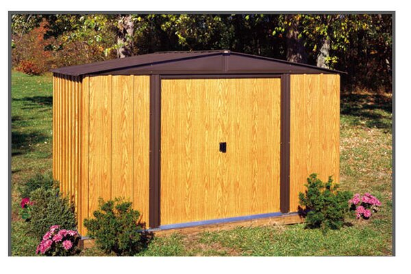 Woodlake 10 ft. W x 8 ft. D Metal Storage Shed by Arrow