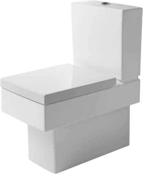 Vero Dual-Flush Elongated Two-Piece Toilet with Glazed Surface (Seat Not Included) by Duravit