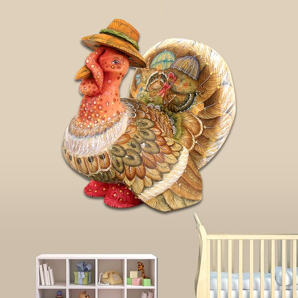 Thanksgiving Turkey Wooden Decorative Door Hanger by Designocracy