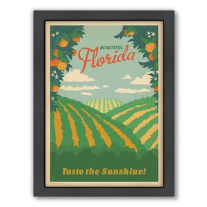 Florida by Anderson Design Group Framed Vintage Advertisement by Americanflat
