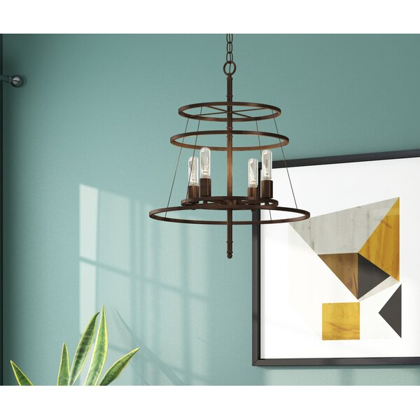 Saturnino 4-Light Wagon Wheel Chandelier by Langley Street