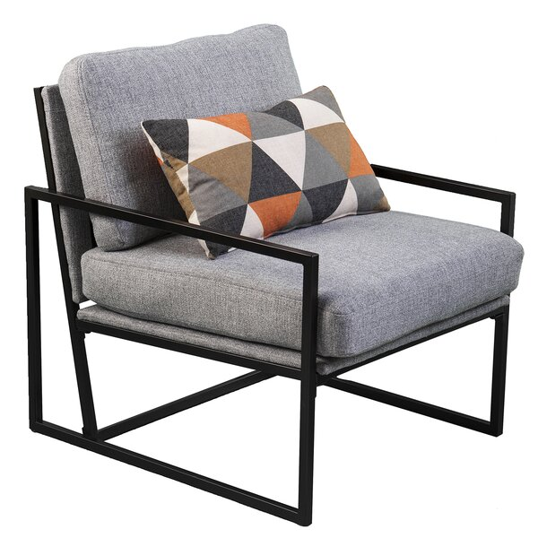 Rosita Upholstered Armchair with Pillow by Brayden Studio
