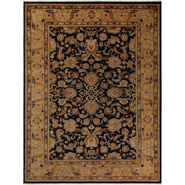Xenos Oriental Hand-Knotted Wool Blue Area Rug by Astoria Grand