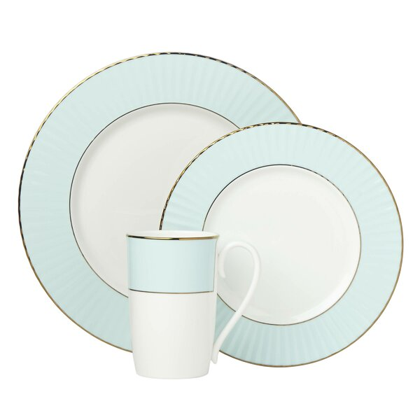 Pleated 3 Piece Bone China Place Setting, Service for 1 by Lenox