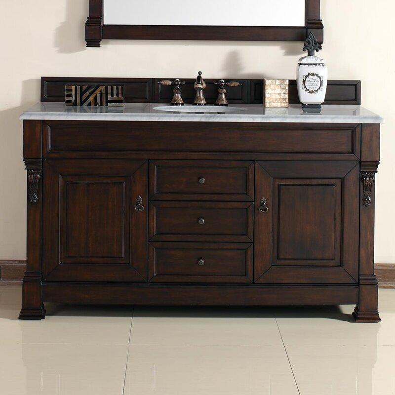 "Bathroom Vanities.Co.Za darby home co bedrock 60"" single burnished mahogany bathroom"