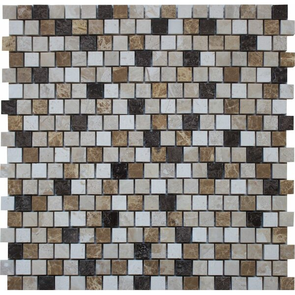 0.63 x 0.63 Marble Mosaic Tile in Karya Royal by Ephesus Stones