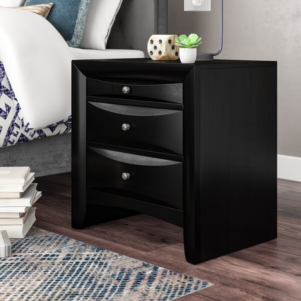 Kim 3 Drawer Nightstand by Latitude Run