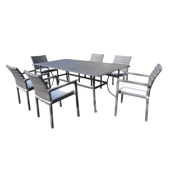 Newport Beach 7 Piece Dining Set by Panama Jack Outdoor