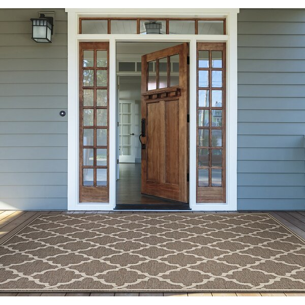 Barrow Taupe Sand\Brown Area Rug by Sol 72 Outdoor