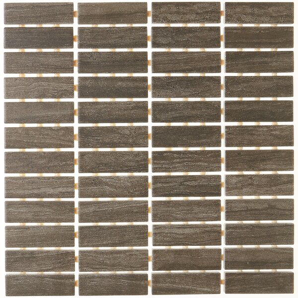 1 x 3 Ceramic Mosaic Tile in Story Brown by Itona Tile