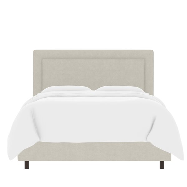 Sandy Border Linen Upholstered Panel Bed by Laurel Foundry Modern Farmhouse