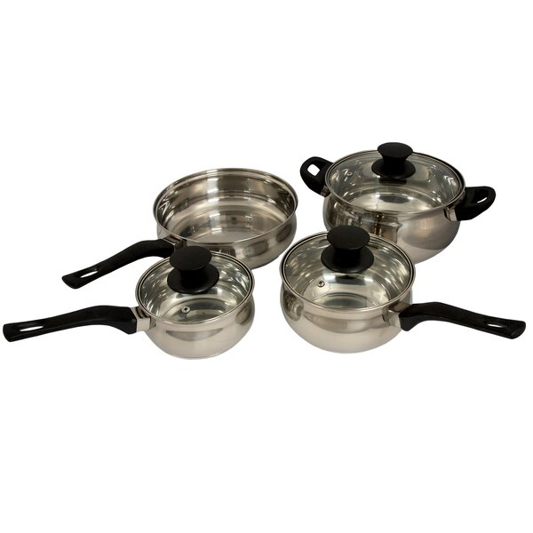 Endsley 7 Piece Stainless Steel Cookware Set by Sunbeam