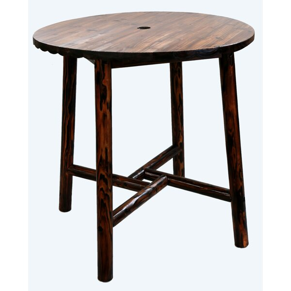 Char-Log Round Wooden Bar Table by Leigh Country