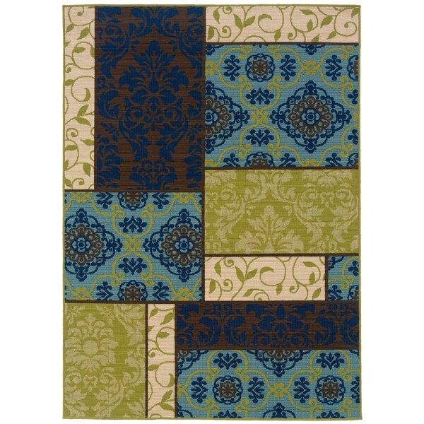 Newfield Brown/Blue Indoor/Outdoor Area Rug by Threadbind