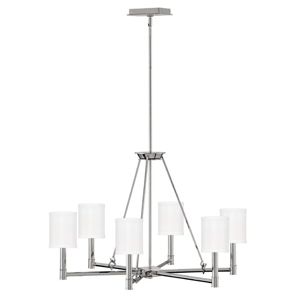 Arbrielle 6 - Light Candle Style Classic / Traditional Chandelier By Latitude Run