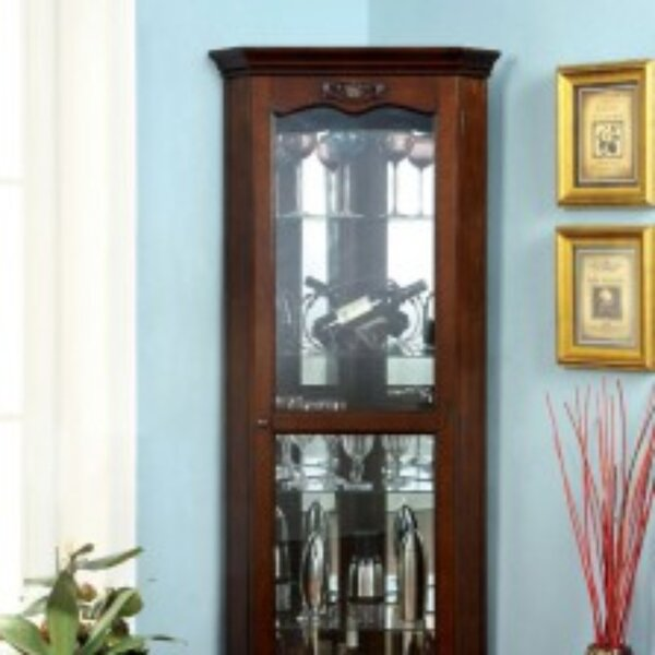 Leitner Curio Cabinet by Charlton Home