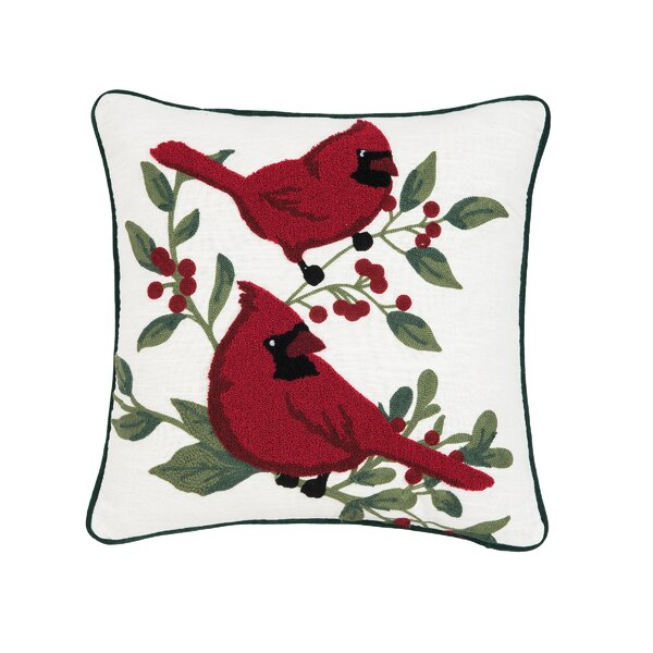 Rosenbalm Cardinal Berry Throw Pillow by Charlton Home