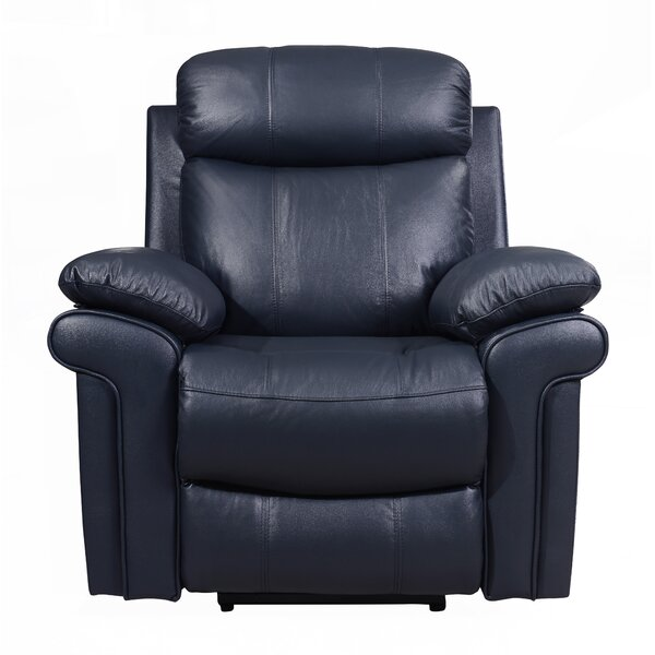 Asbury Leather Power Recliner By Red Barrel Studio
