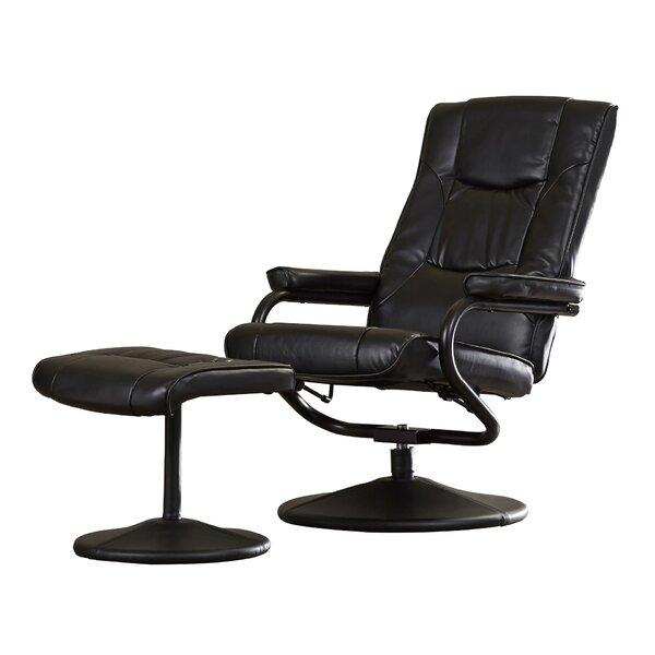 Manual Swivel Recliner with Ottoman by Charlton Ho