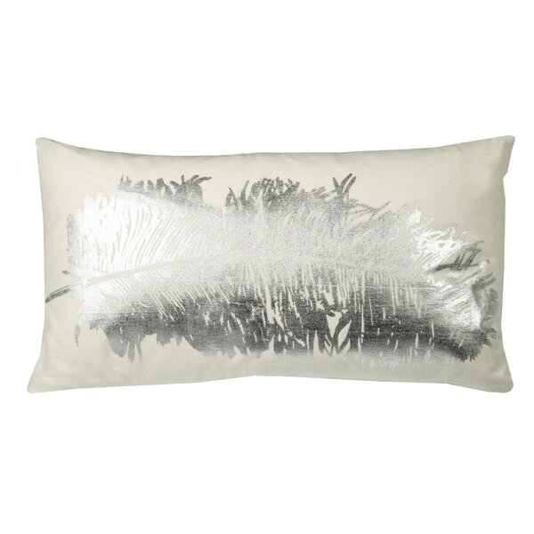 Knowlton Metallic Feather Lumbar Pillow by Mercury Row