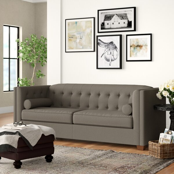 Best Price McDougal Modern Chesterfield Loveseat by Three Posts