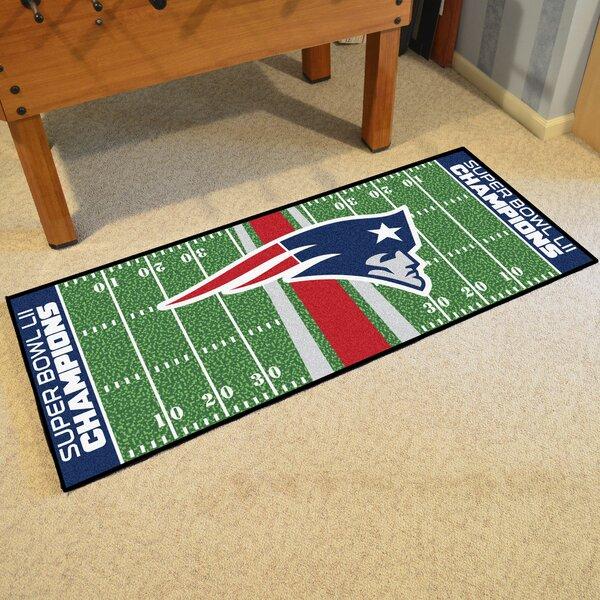 New England Patriots Football Field Runner Doormat by FANMATS