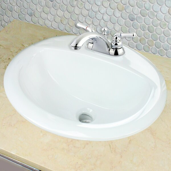 Great Point Vitreous China Oval Drop-In Bathroom Sink with Overflow by Nantucket Sinks
