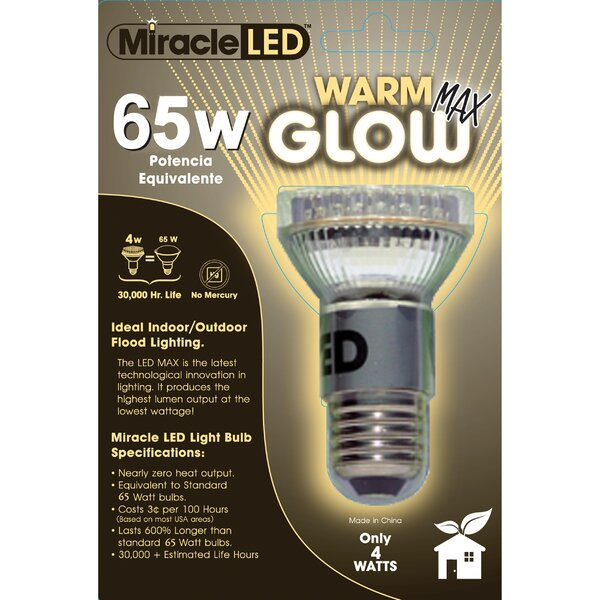 65W (3000K) LED Light Bulb by Miracle LED