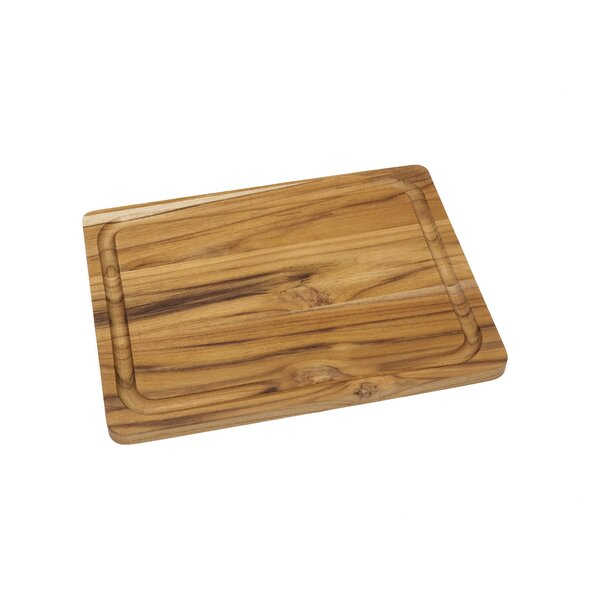 Teak Edge Grain Cutting Board by Lipper International