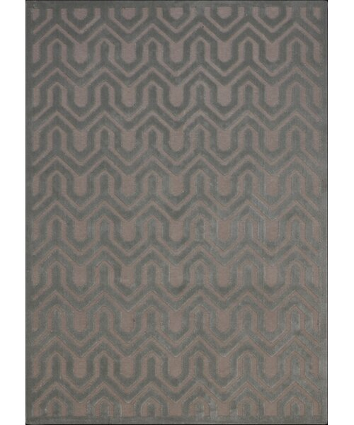 Beaconsfield Silver/Green Area Rug by Mercer41